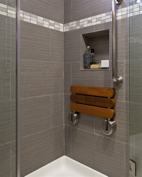 Teak Bathroom Benches by Love The Wall Tile