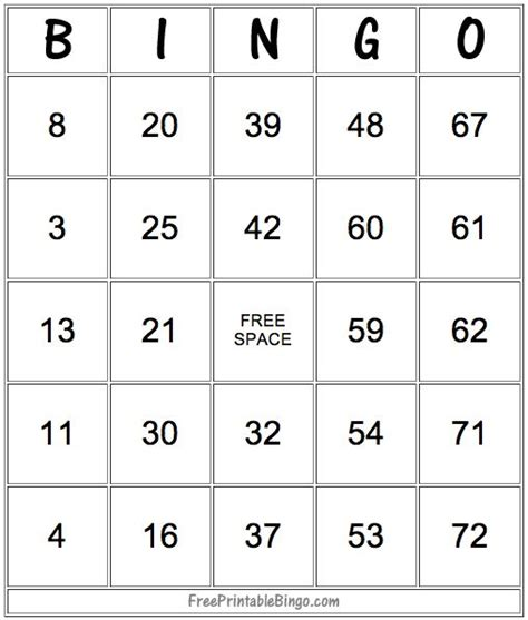 make bingo card 25 unique printable bingo cards ideas on free
