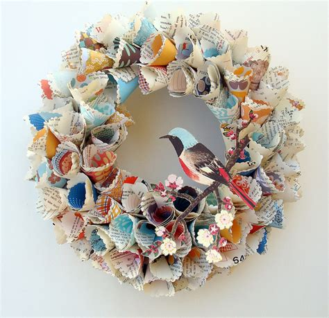 paper wreath craft avenue baby craft decorate paper wreath