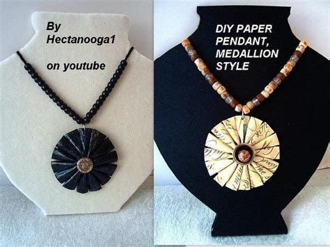 how to make jewelry out of paper paper jewelry medallion pendant 183 how to make a