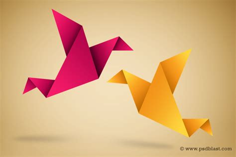 Paper Bird Icon Origami Symbolic Vector Illustration