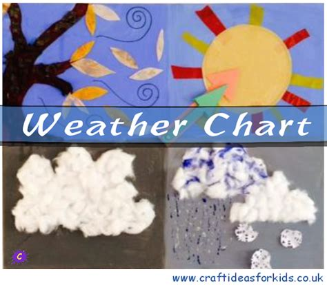 weather craft for weather chart craft ideas for