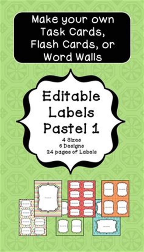 make your own math flash cards editable name tags and desk plates in black and white math