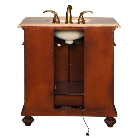 ivory ceramic kitchen sink 34 quot single sink cabinet travertine top undermount ivory