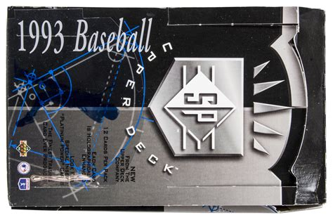 1993 Deck Sp Baseball Box by Lot Detail 1993 Deck Sp Hobby Unopened Box 24 Packs