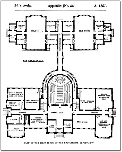architecture school floor plan file architectural measured drawings showing the floor