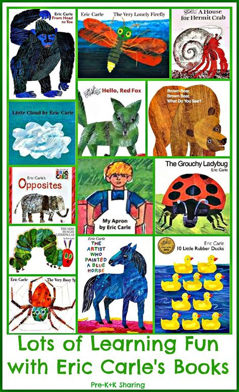 eric carle picture books kindergarten holding and sticking together more