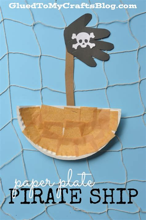 ship craft for popsicle stick pirate ship kid craft