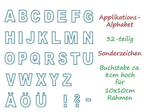 Zahlen Zum Aufnähen by Stickmuster Stickdatei Alphabet Applikationen Abc 32 Tlg