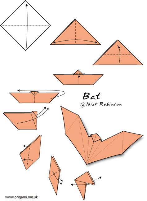 easy origami bat going batty crease is the word