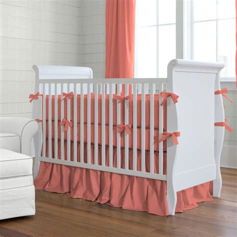 coral crib bedding sets solid coral crib bedding crib bedding carousel