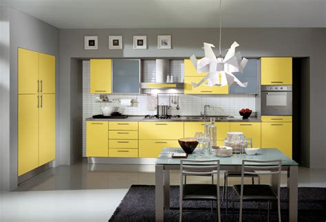 yellow and gray kitchen modern yellow and grey kitchen ideas