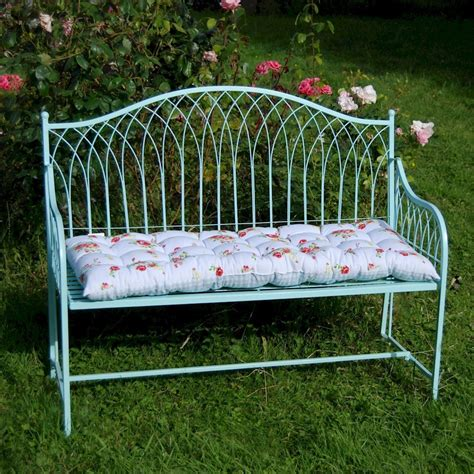 shabby chic garden bench shabby chic rustic garden bench steel in blue or
