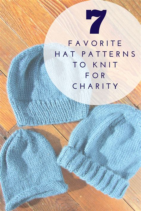 knit for charity a lively seven favorite hat patterns to knit for charity