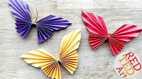 craft paper butterfly easy paper butterfly ted s