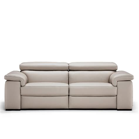 natuzzi leather recliner sofa natuzzi editions moretta large silver grey leather power