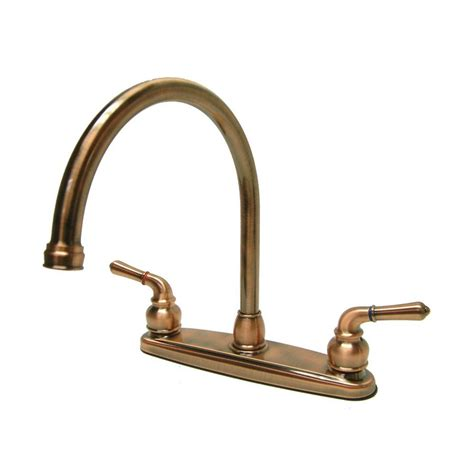 antique copper kitchen faucets shop elements of design magellan antique copper 2 handle deck mount high arc kitchen faucet at