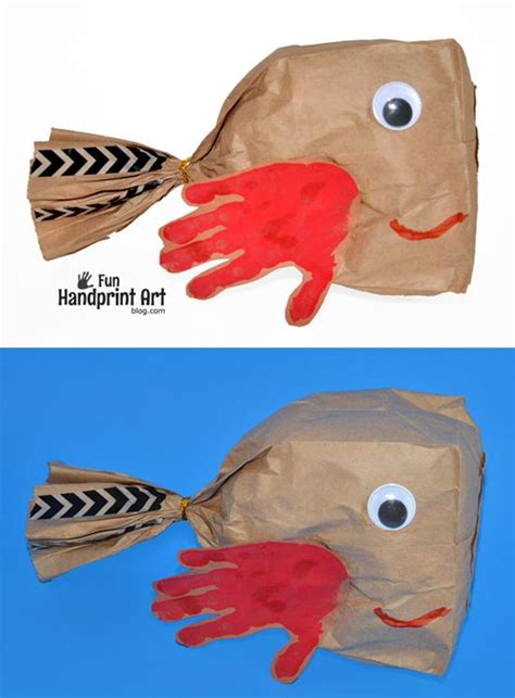 paper bag fish craft paper bags paper bag crafts and fish crafts on