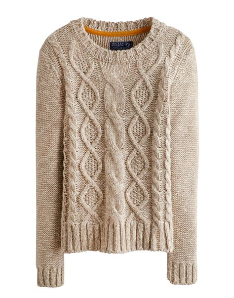 cable knit jumper joules avelyn womens jumper pullover neck cable knit