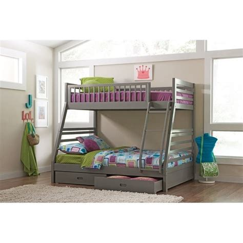 coaster bunk bed coaster cooper bunk bed with drawers in