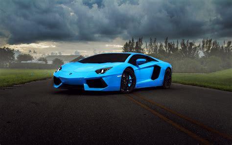 Car Wallpaper Blue by Blue Lamborghini Car Wallpaper Hd Blue