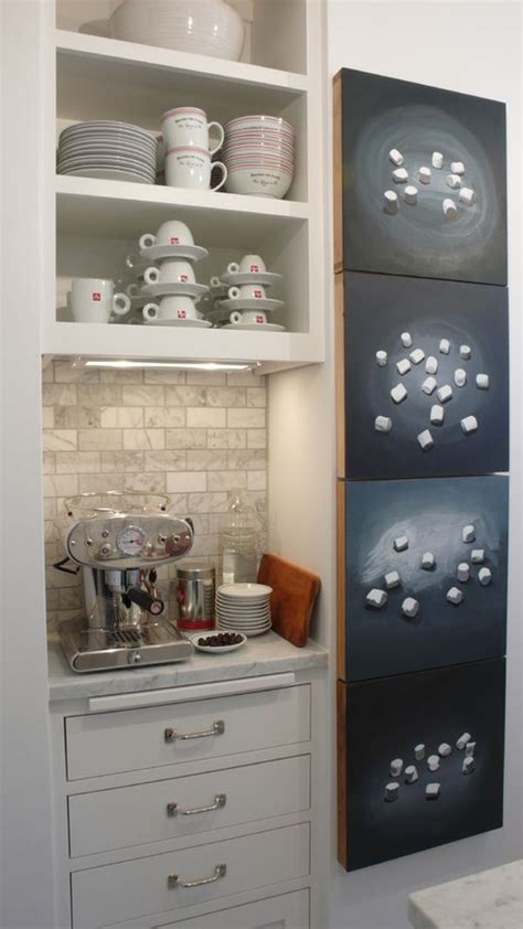 Corner Cabinet Solutions In Kitchens adorable amp stylish at home coffee stations
