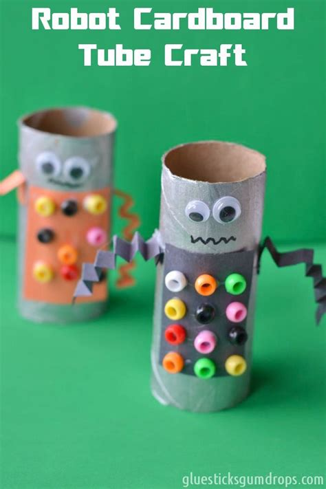 robot crafts for easy robot toilet paper roll craft cardboard and