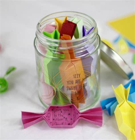 origami jar jar personalised origami sweet message jar by beecycle