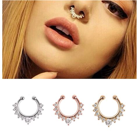 how to make septum jewelry new arrival alloy nose hoop nose rings piercing