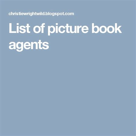 17 Best Images About Agents Of Picture Books On