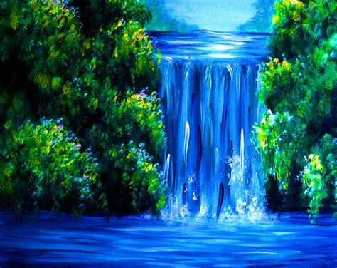 bob ross painting classes nj 25 best ideas about waterfall paintings on