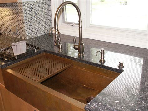 traditional kitchen sinks copper farmhouse sink by rachiele traditional kitchen