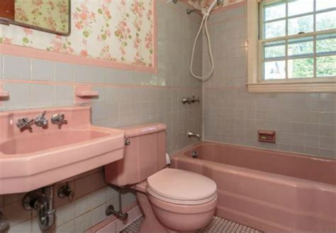 Old American Standard Faucets by 1950 S Pink Bathroom Challenge