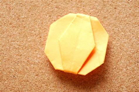 origami pumpkins how to make an origami pumpkin 14 steps with pictures