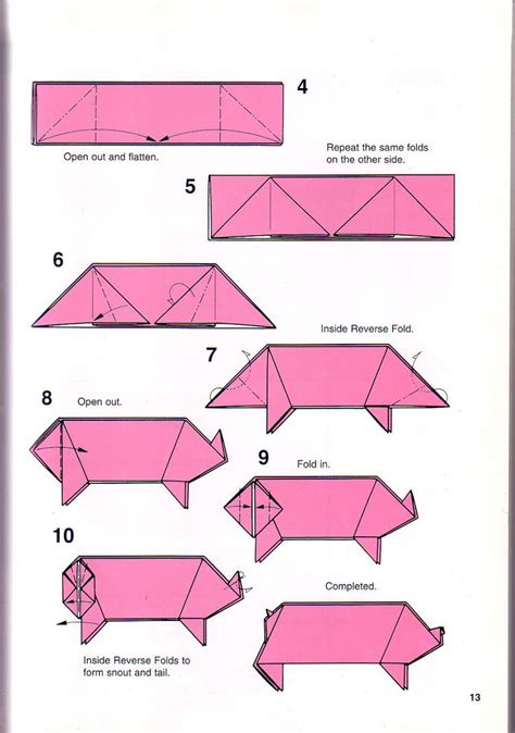 origami pigs 16 best images about oragami on dollar bills