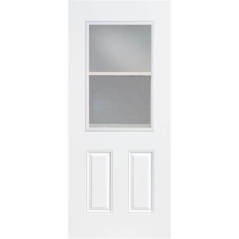 30 exterior door with window masonite 36 in x 80 in vent lite primed smooth