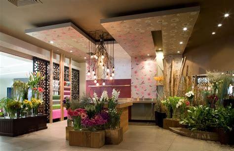 interior design with flowers