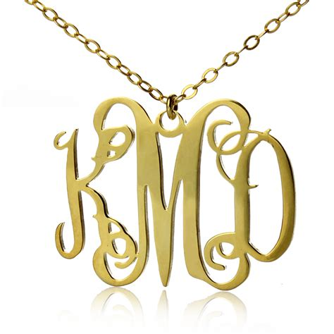 how to make monogram jewelry style personalized monogram necklace gold