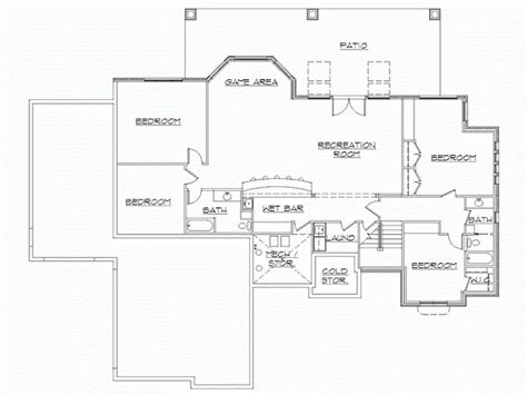 finished basement house plans rambler house plans with finished basement by eplans rambler house floor plans rambler floor
