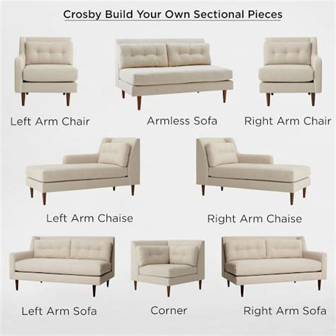 how to build a sectional sofa build your own crosby sectional pieces west elm