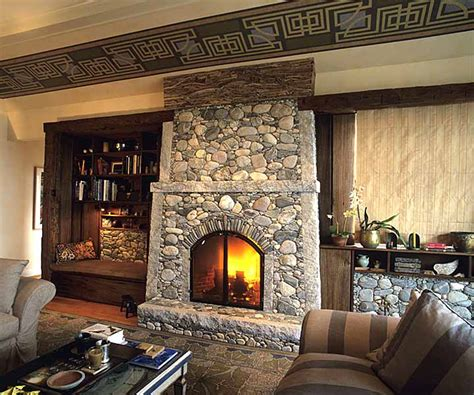 rock fireplaces river rock fireplace nifty homestead