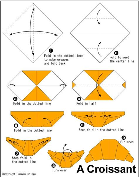 history origami origami croissant translate into use to teach