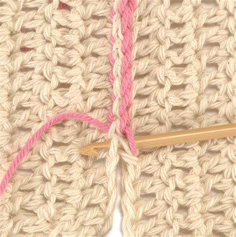 sewing two knitted pieces together slip stitch crochet stitch n purl