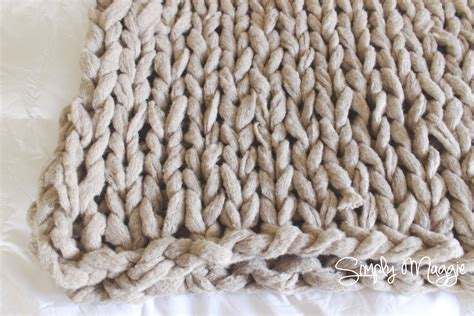 how to arm knit blanket arm knit a blanket in 45 minutes simplymaggie