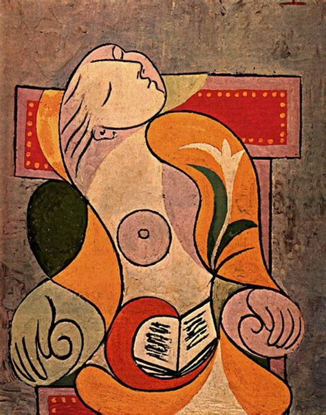 picasso paintings reading pablo picasso reading therese 1932