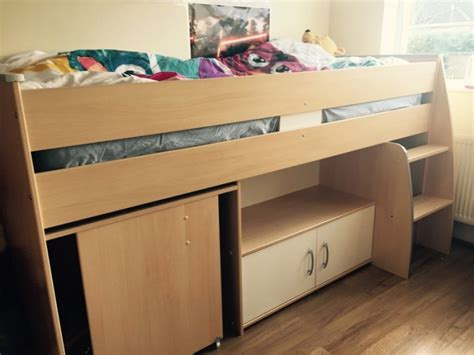 bed with single bunk bunk single bed with a desk and shelf for sale in naas
