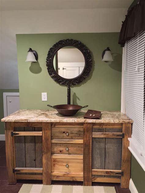 rustic wood bathroom vanity 34 rustic bathroom vanities and cabinets for a cozy touch