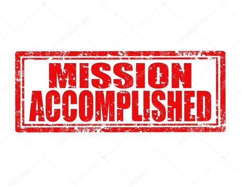 completed rubber st mission accomplished st stock vector 169 carmen dorin