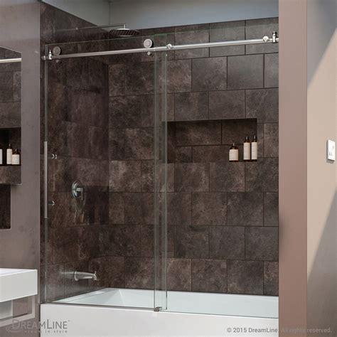 bathtubs with glass shower doors dreamline enigma x 56 to 59 in frameless sliding tub door