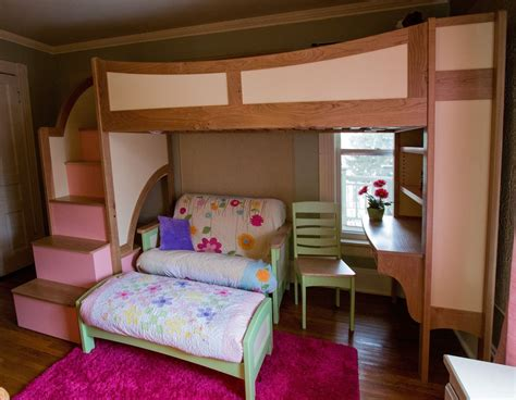 bunk beds for with stairs and desk handmade s loft bunk bed with stairs futon